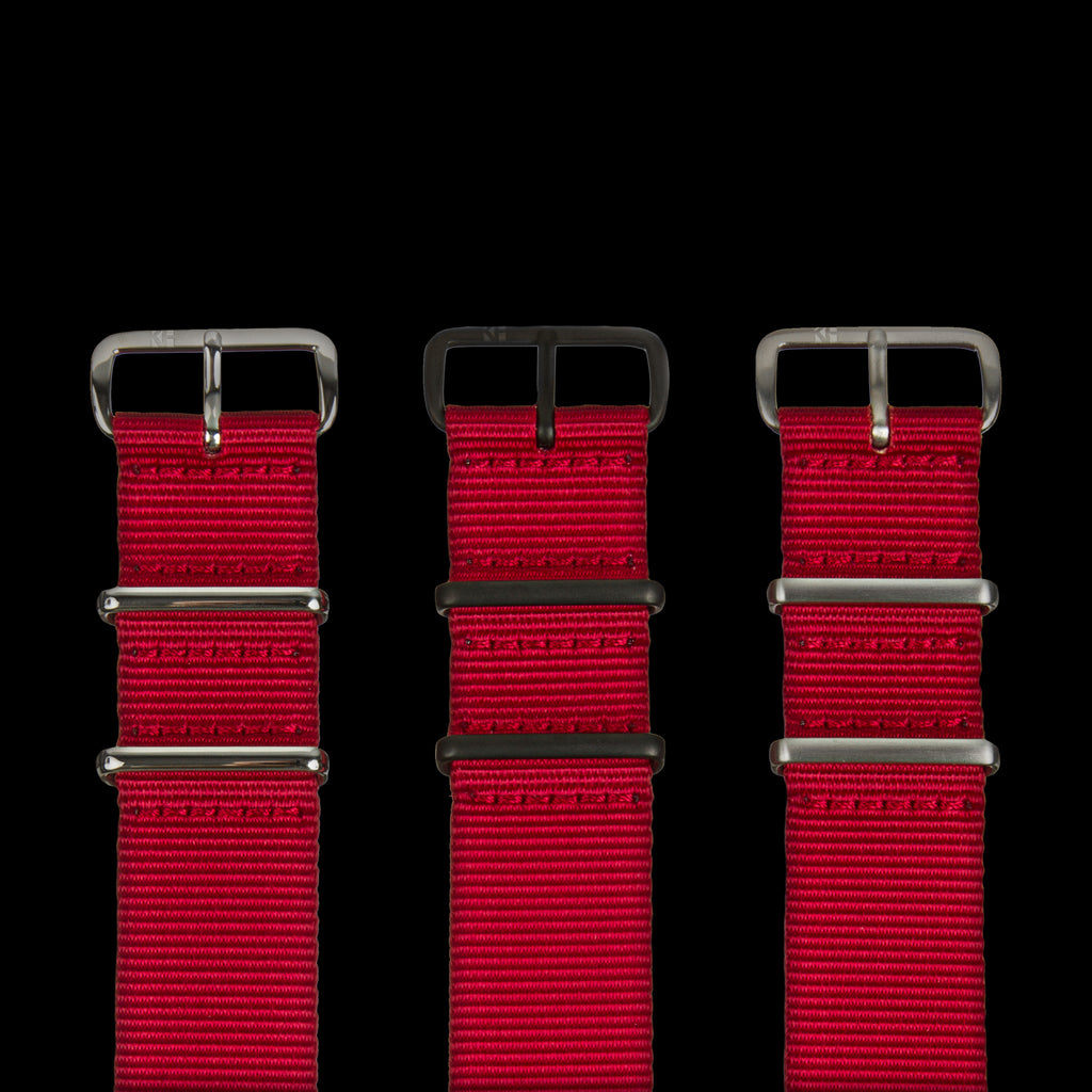 KH x Crown & Buckle Cardinal Red Premium NATO Strap