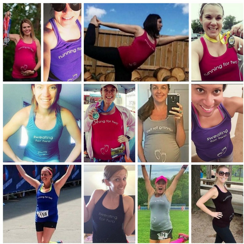 For Two Fitness Maternity Activewear Ambassador Program Collage