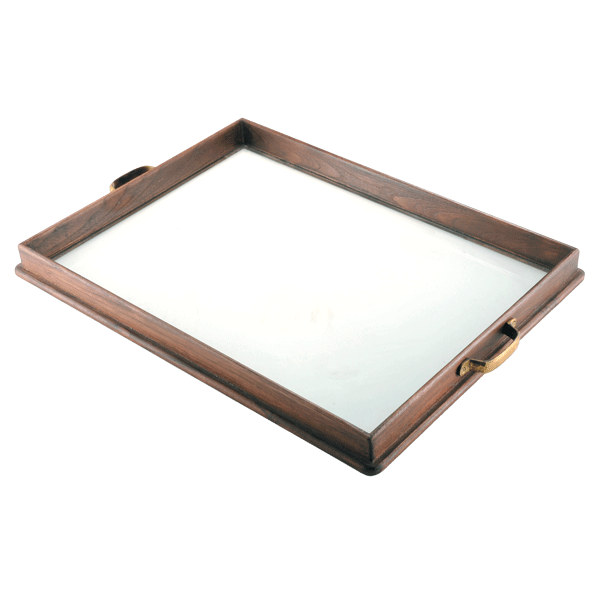 Wood & Glass Serving Tray