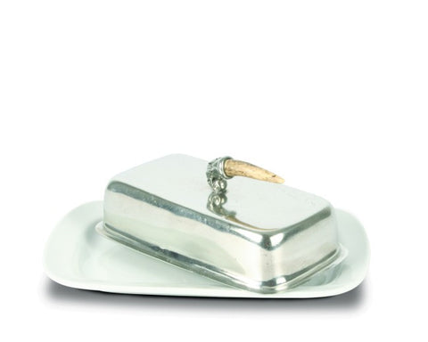 L01320 - Antler Handle Butter Dish
