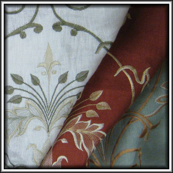 Arabesque Embroidered Linen Curtains