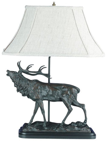 L00235 - Bellowing Bull Elk Lamp