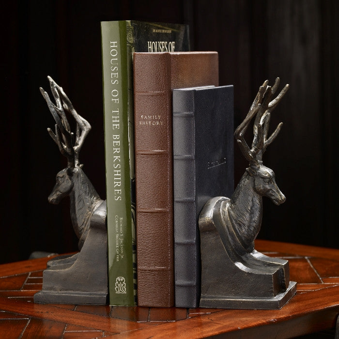 Bronzed Stag Bookends