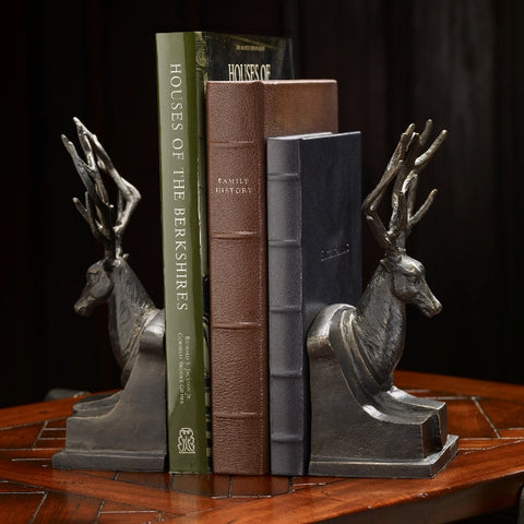 B81115 - Bronzed Stag Bookends