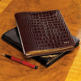 A44399 - Leather Embossed Notebook