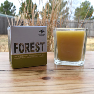 Forest Beeswax Candle
