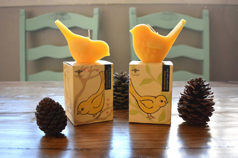 Song Bird Beeswax Candle