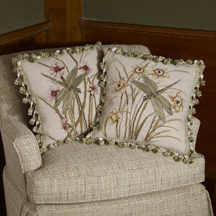 Dragonfly Garden Pillow