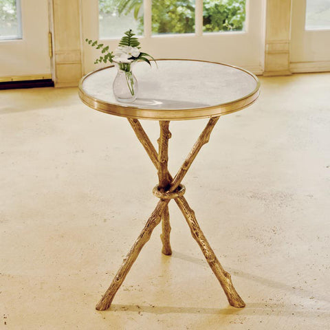 A22020 - Faux Bois Drinks Table