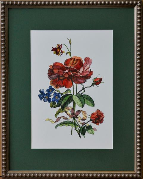 L00685 - Hand Painted French Bouquets