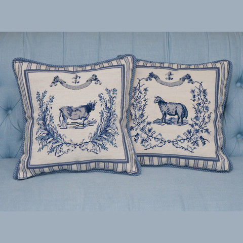 French Country Needlepoint Pillow
