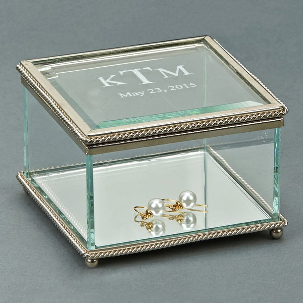 L00500 -  Glass Jewelry Box