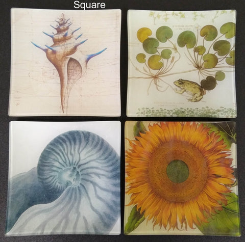 Square Artisan Glass Trays