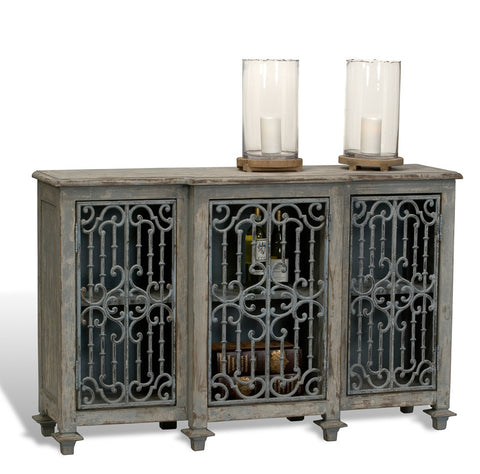 L00055 - Ornate Iron Sideboard