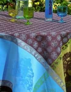 French Linen Tablecloth and Tea Towels