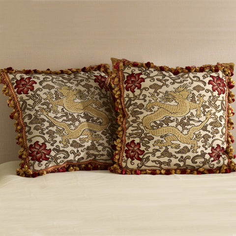 Imperial Dragon Aubusson Pillow