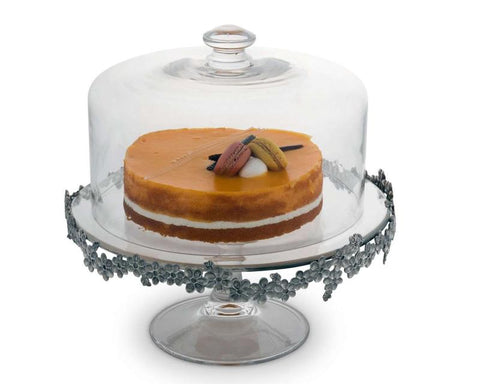L01570 - Lilacs Covered Cake Plate