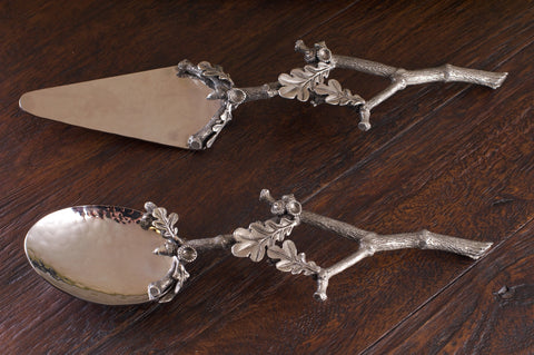L00325 - Acorn & Oak Leaf Serving Utensils