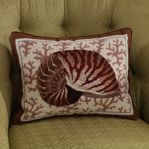 F62055 - Nautilus Needlepoint Pillow