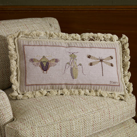 D81020 - Petit Point Insect Pillows