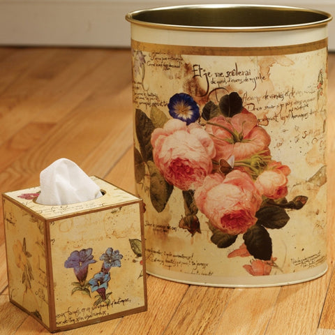 Poetic Wastebasket & Tissue Box