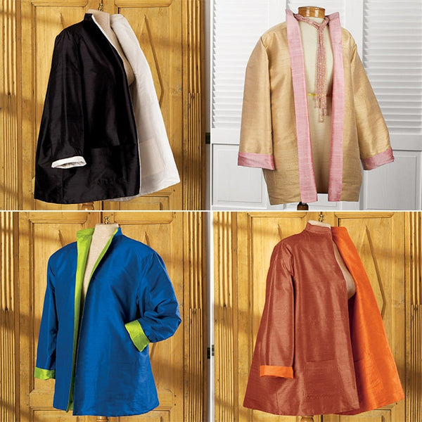 Reversible Silk Swing Jackets