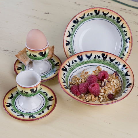 Faience Rooster Bistro Collection