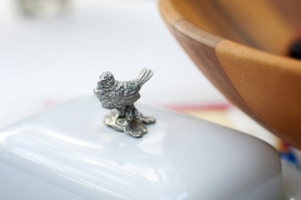 Song Bird Butter Dish