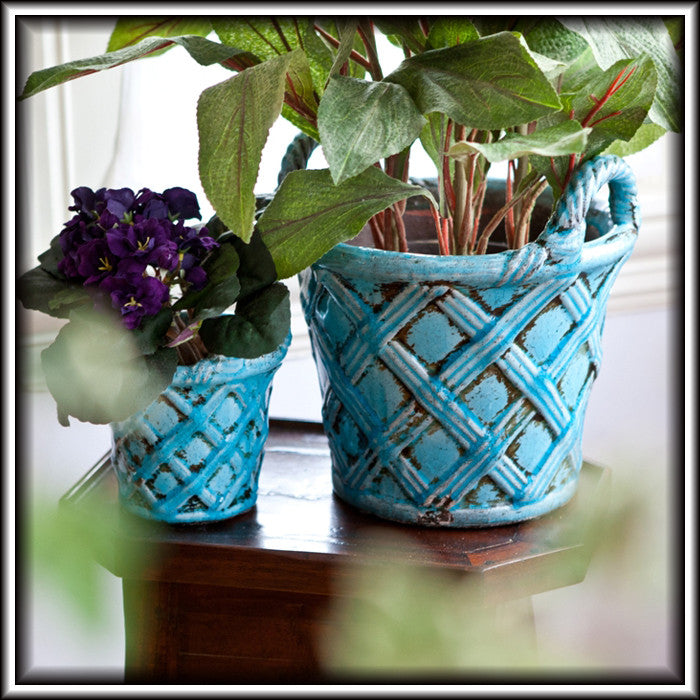 Terracotta Flower Baskets