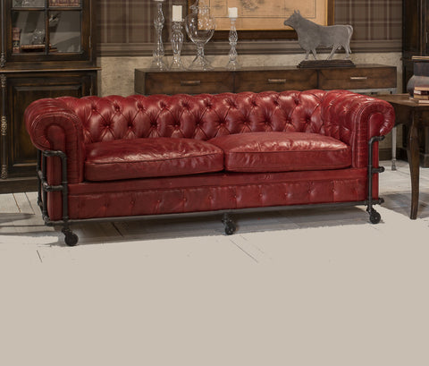 L00090 - Tribeca Leather Sofa