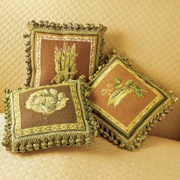 Vegetable Petit Point Pillows