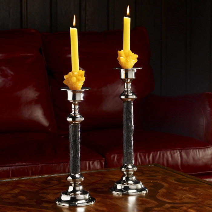 Walnut Bark Candlesticks