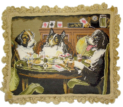 A46080 - Dogs Playing Cards