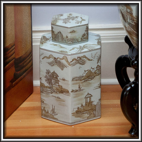 Willow Porcelain Tea Jar
