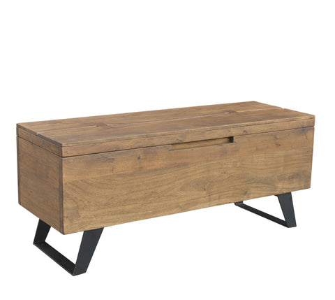 L00915 - Wood & Iron Linen Chest
