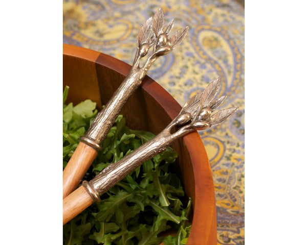 L00575 - Olivewood Salad Serving Collection