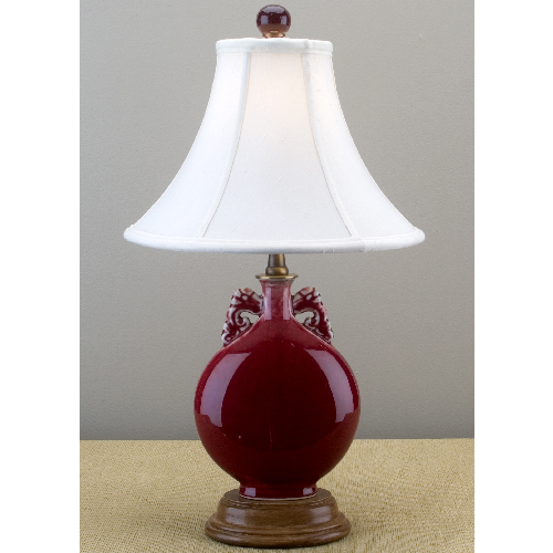L01025 - Crimson Porcelain Lamp
