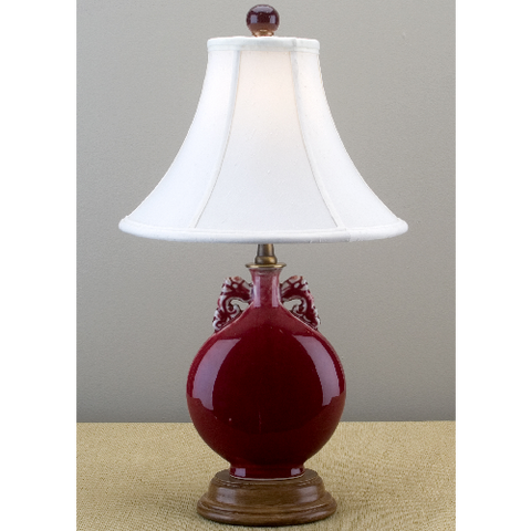 Crimson Porcelain Lamp