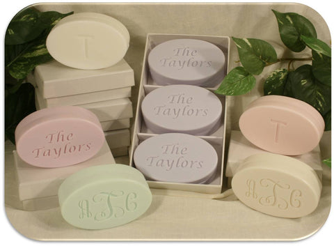 L00640 - Trio of Monogrammed Soaps