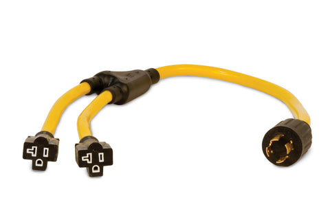 "3' ""Y"" Adapter, L14-30P to 5-20R"
