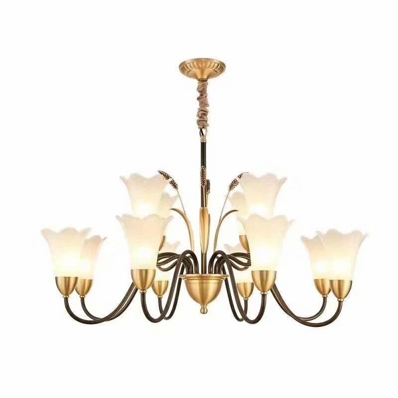 Golden Lily Chandelier