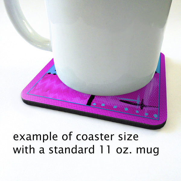 Abstract Love Art Coaster Set in assorted colors