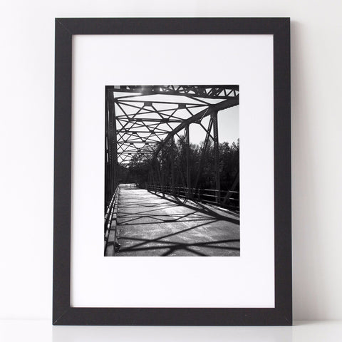 Architectural Photography - Monochrome Steel Bridge by Charlee M Fischer