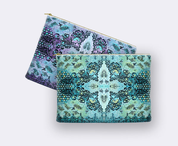 Butterflies and Roses Print Pencil Case color options
