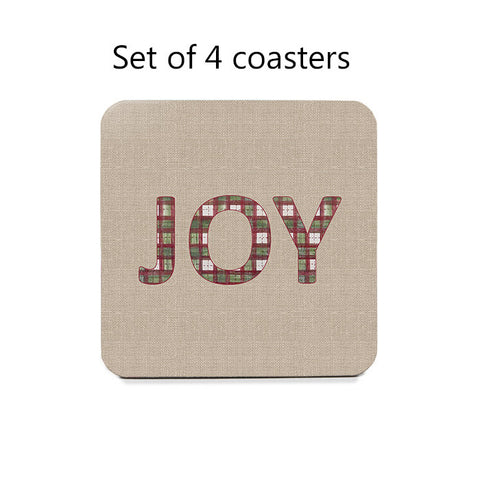 Christmas 'JOY' Coaster Set