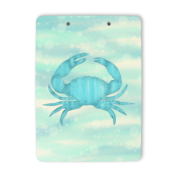 Blue Crab Nautical Clipboard back