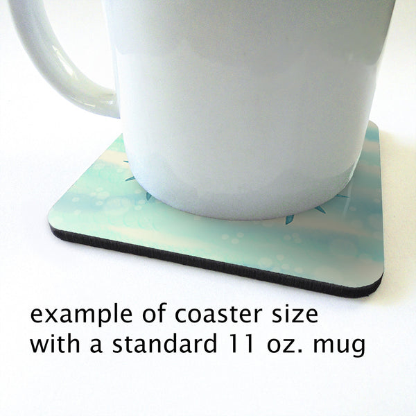Blue Crab Nautical Coaster Set 2