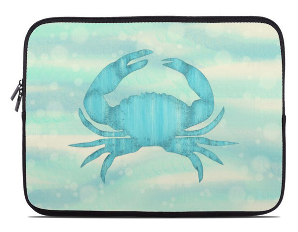Blue Crab Laptop Cover