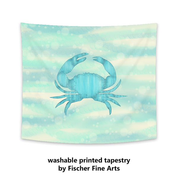 Blue Crab Wall Tapestry