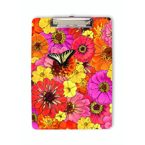 Butterfly and Flowers Clipboard